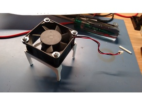 RAMPS 50mm clip on cooling fan mount Remix