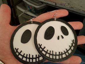 Large Jack Skellington Earrings