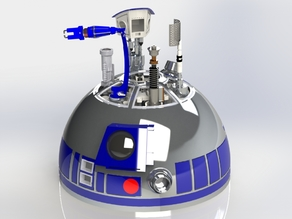 R2-D2 Dome Mechanism Part 1 by Matt Zwarts