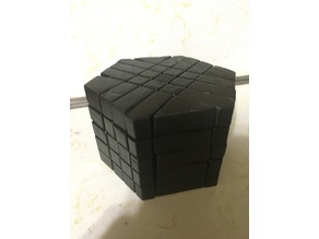 5x5 Hexagonal Prism Twisty Puzzle (Printed Extensions Only, No Cutting Required)