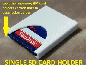 Single SD Memory card holder