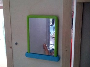 Mirror wall mount