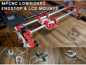 MPCNC Lowrider2 endstop and electronics case mounts