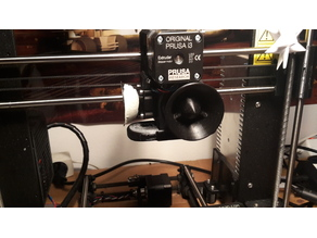 Intake tract/funnel for print cooling fan