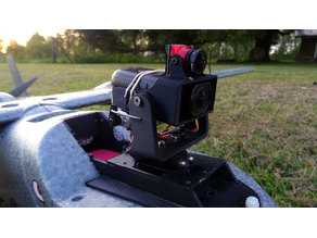 FPV Pan Tilt for Gitup F1 Camera with Micro FPV Camera