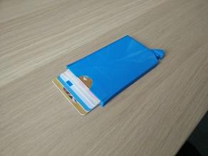 Fully 3D printable card holder wallet