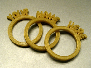 Personalized Napkin Rings