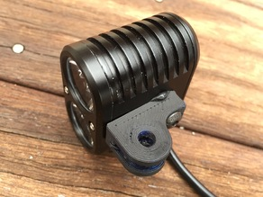 GoPro mount for Gemini DUO bike light.