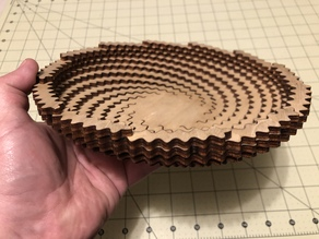 Laser cut spiral bowl