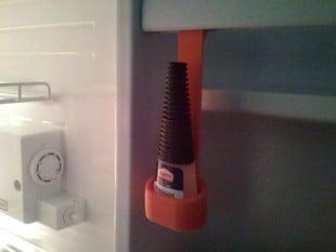 Super Glue basket holder for the refrigerator