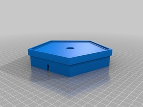 Pentagon Lithophane Base for G4 Bulb