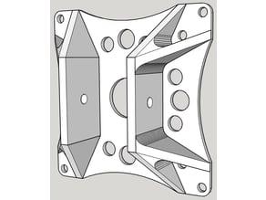 Support VESA pour profilé aluminium