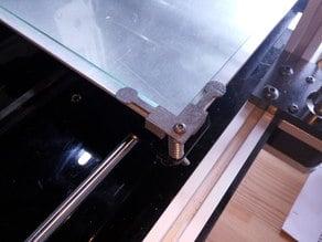 Prusa i3 glass plate corner
