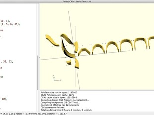 Bezier Library for OpenScad