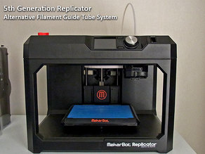 5th Generation Replicator - Filament feed system for reduced feeding resistance