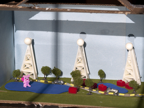Cell Tower for 9 year old's cell phone diorama project.