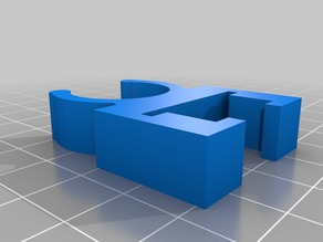 """Pixel clip for square nodes and 1/2"""" pvc"""
