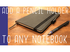 Pen holding tab for any pen/pencil and any notebook/notepad