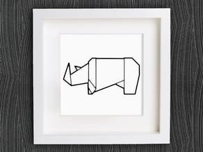 Customizable Origami Rhino
