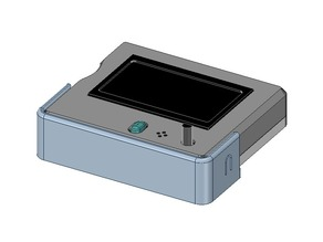 Improved Full Graphic LCD Case and Dock - RepRap Discount Cradle Mount