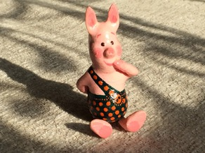 Sitting Piglet from Winnie-The-Pooh tale