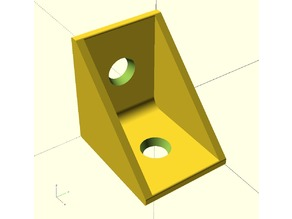 Parametric L-bracket (with rounded edges)