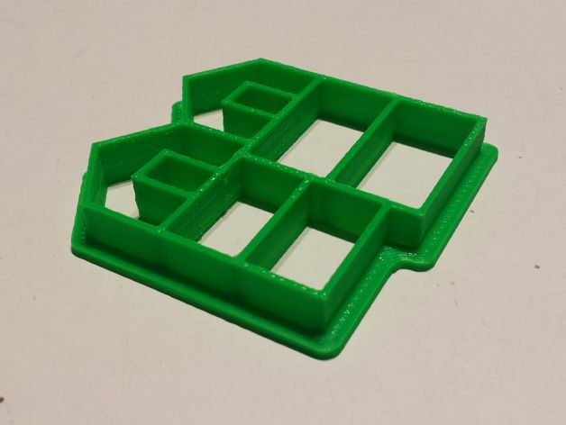 Mini gingerbread house cookie cutter by maddavo thingiverse for Cookie cutter house plans