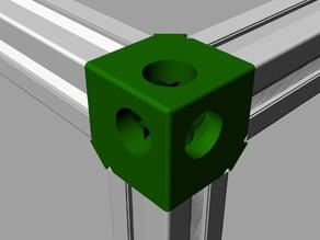 Corner 3 ways extrusion aluminium 20x20 (2020)