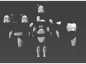 SW Captain Rex Suit / Armour model