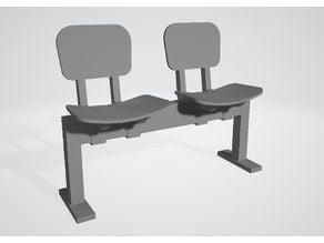 Twin beam chair