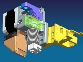 E3D Dual/Single direct drive extruder conversion for Felix Printer
