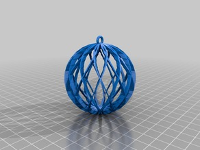 My Customized Spiral Sphere Ornament - Customizer enabled