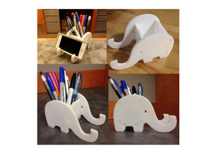 Elephant Phone & Pen Holder