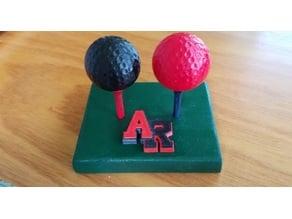 Golf ball salt/pepper shaker
