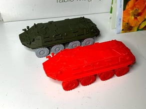 BTR-60 - breakdown, 1:72 and 1:100 remix