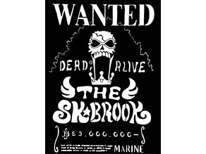 Wanted poster Soul King Brook