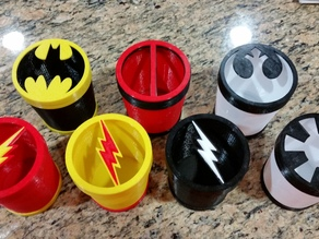 Super Heroes Toothbrush Holders