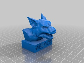 Werewolf Bust. Busto de Hombre Lobo