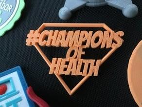 #HIMSS19 Champions Of Health Badge Pin
