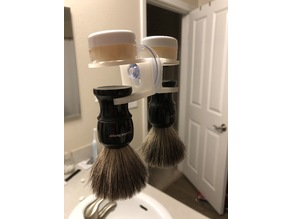 Shave Brush Holder With Suction Cup Mount