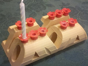 Customizable birthday candle holder