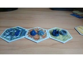 Basic catan pieces