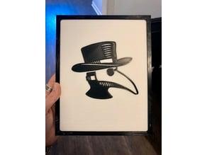 Plague Doctor 2D Art w/Frame