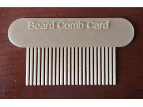 Beard Comb Card