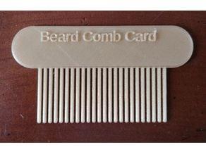 Beard Comb Card