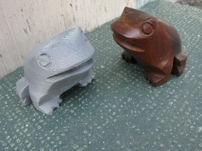 Wooden Frog and Marble Cat
