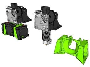 E3D V6 40mm Triple Fan Blower Duct