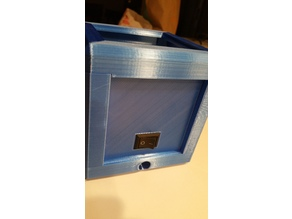 litho lamp back panel with switch