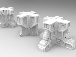 28mm Sci-fi building corners