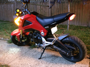 Honda Grom Fender Eliminator (license plate mount)